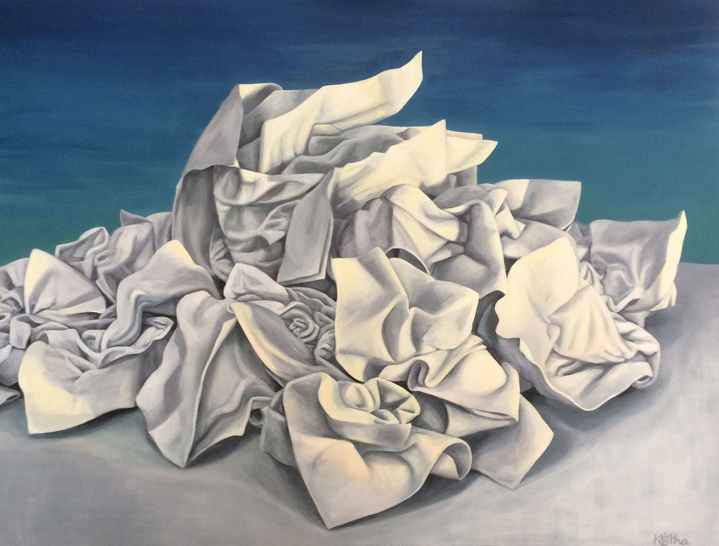 Mount Ill, 90 x 120 cm, Eitempera auf Leinwand