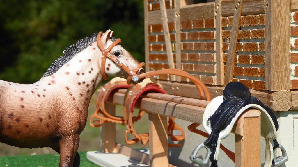 Anbindplatz für Schleich Pferde