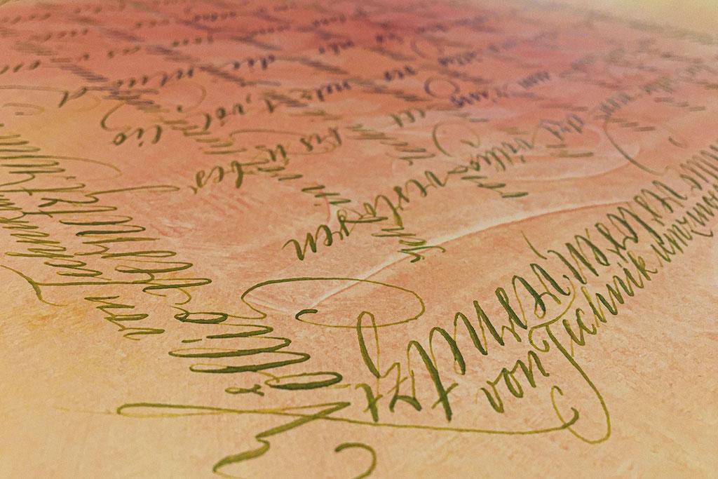 Anglaise - Englische Schreibschrift um 1730