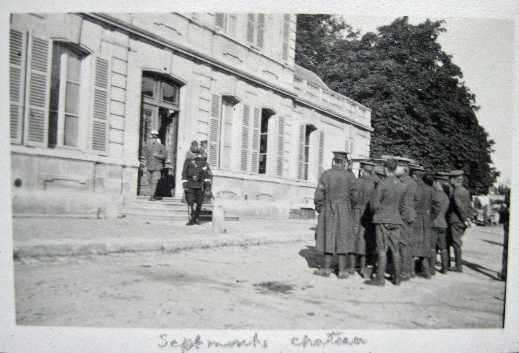 libération de la maison en 1918 par un regiment Anglais et Australiens