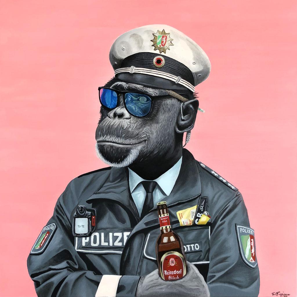 German Policeman (80x80cm) SOLD