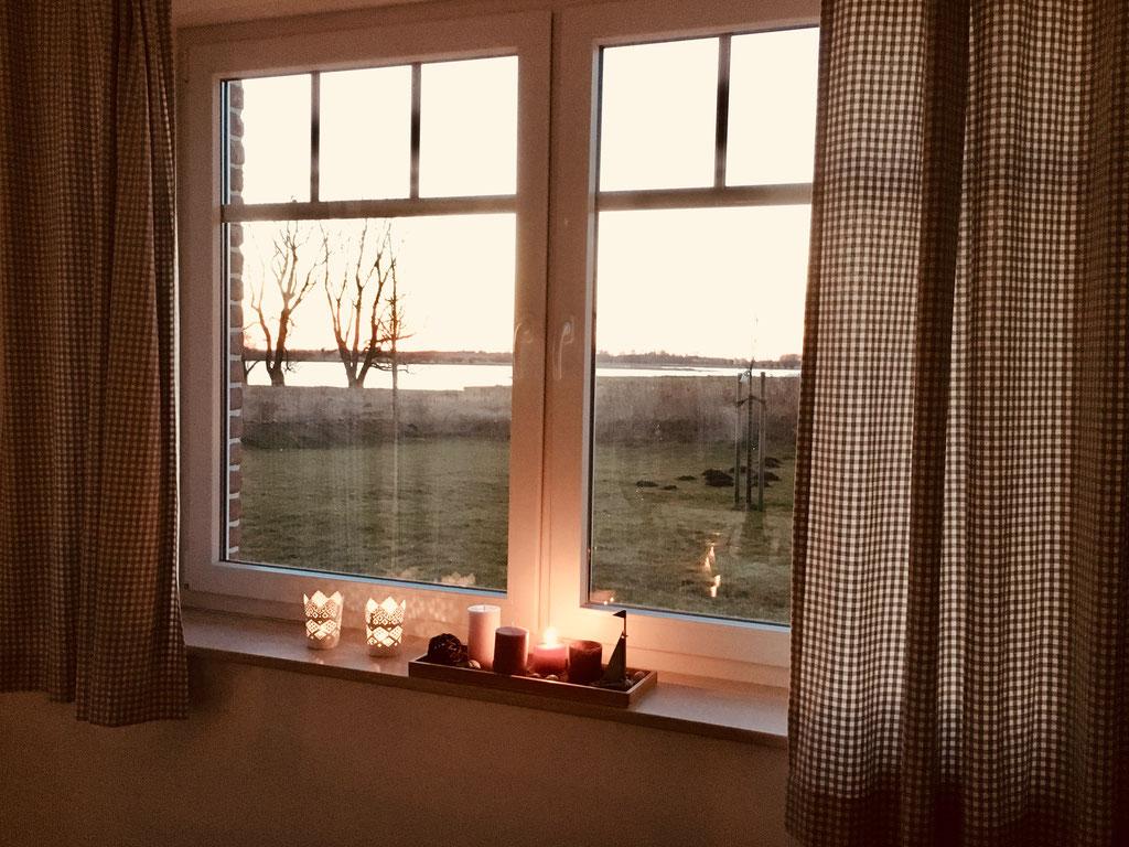 Blick aus dem Esszimmerfenster auf die Wiek