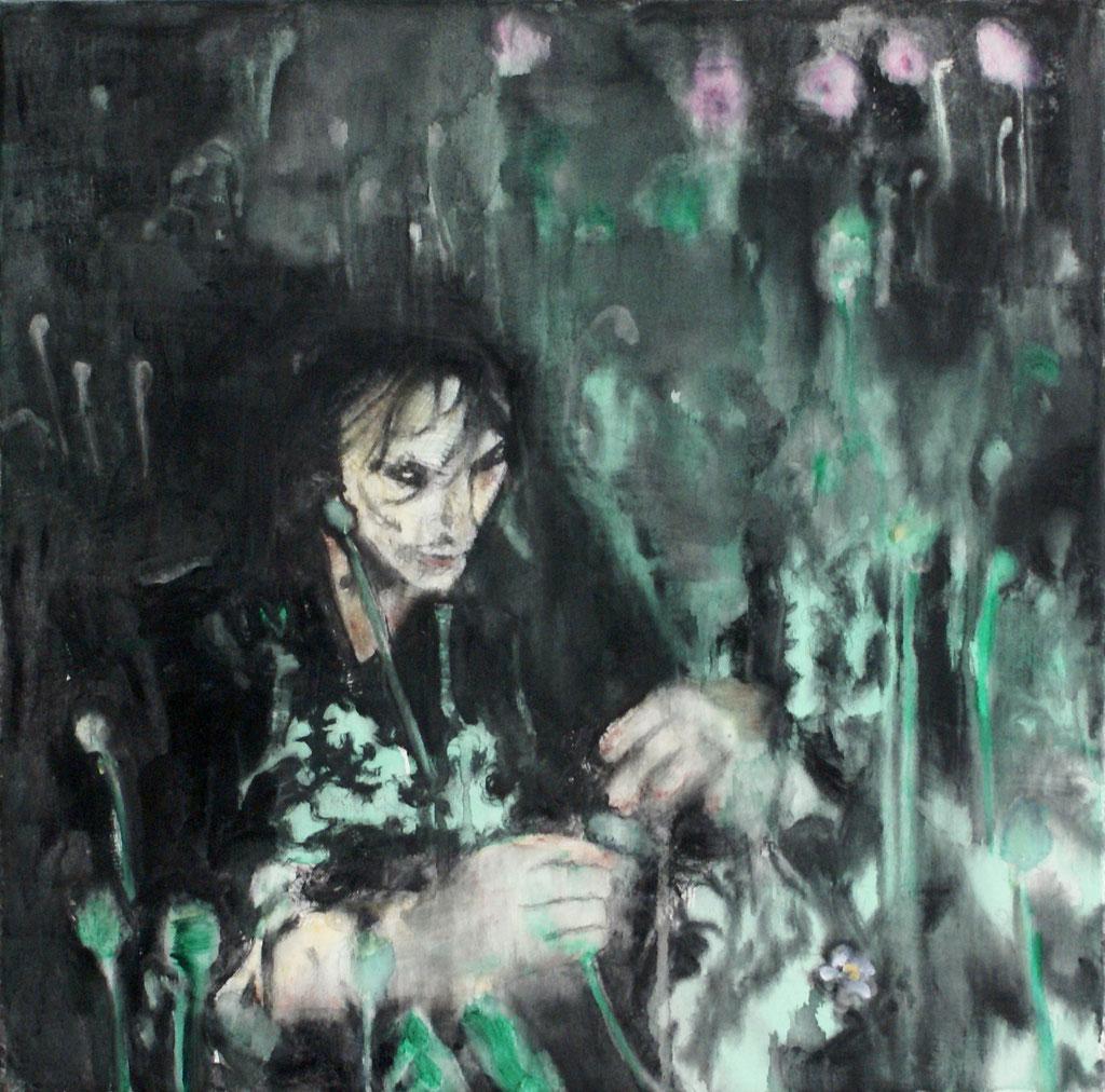 Man in poppies 2 50x50 cm Oil/Canvas 2009