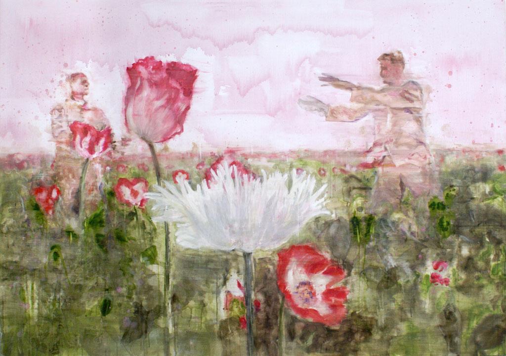 Poppies 3 140x200 cm Oil/Canvas 2009