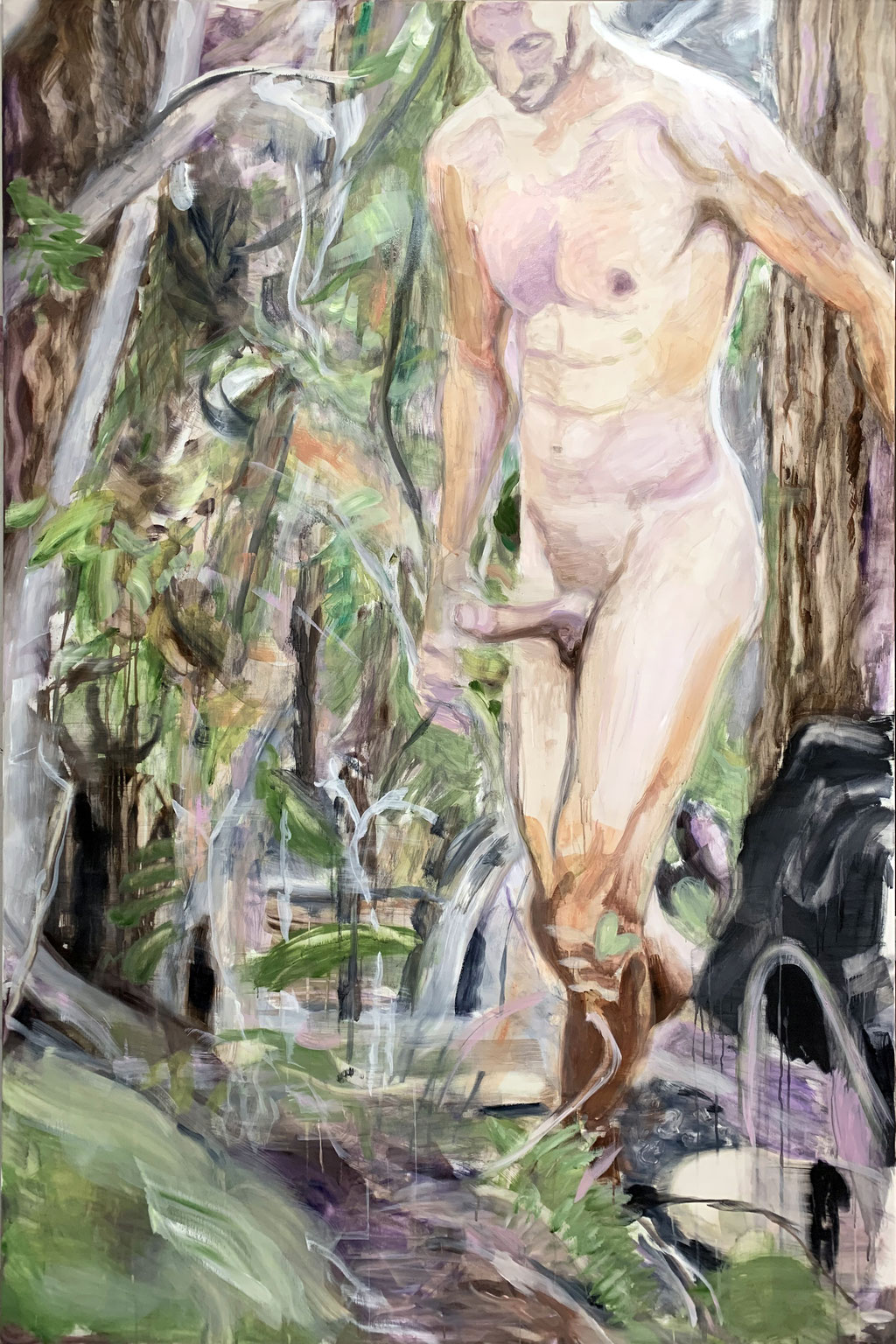 in the woods_2019_195x130cm_oil on canvas