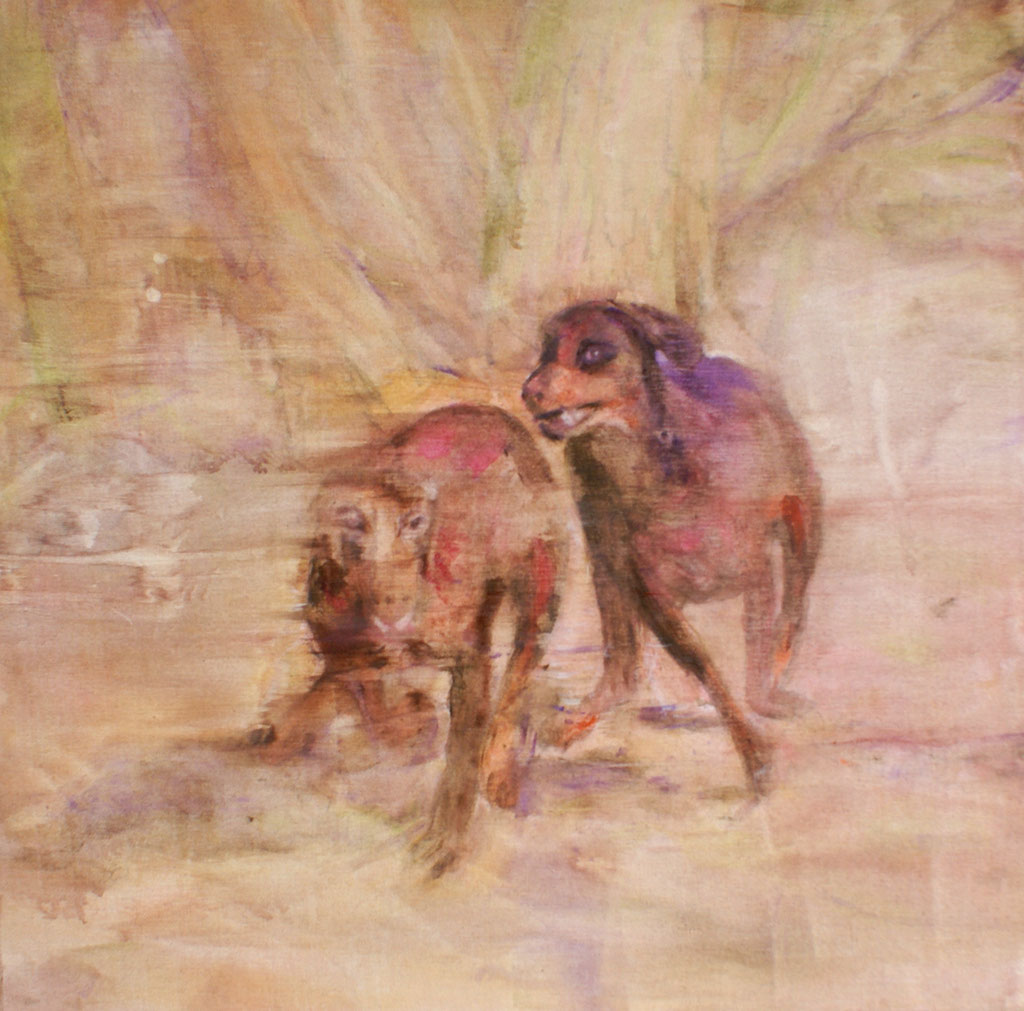 Nachbars Lumpis 50x50 cm Oil/Canvas 2009