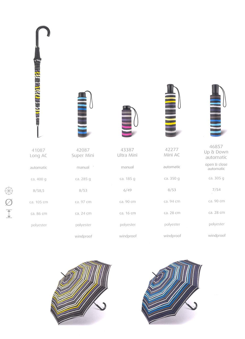Essentials Fashion Stripes 41087 long 42087 Super Mini 43387 Ultra Mini 42277 Mini auto 46857 Up & Down