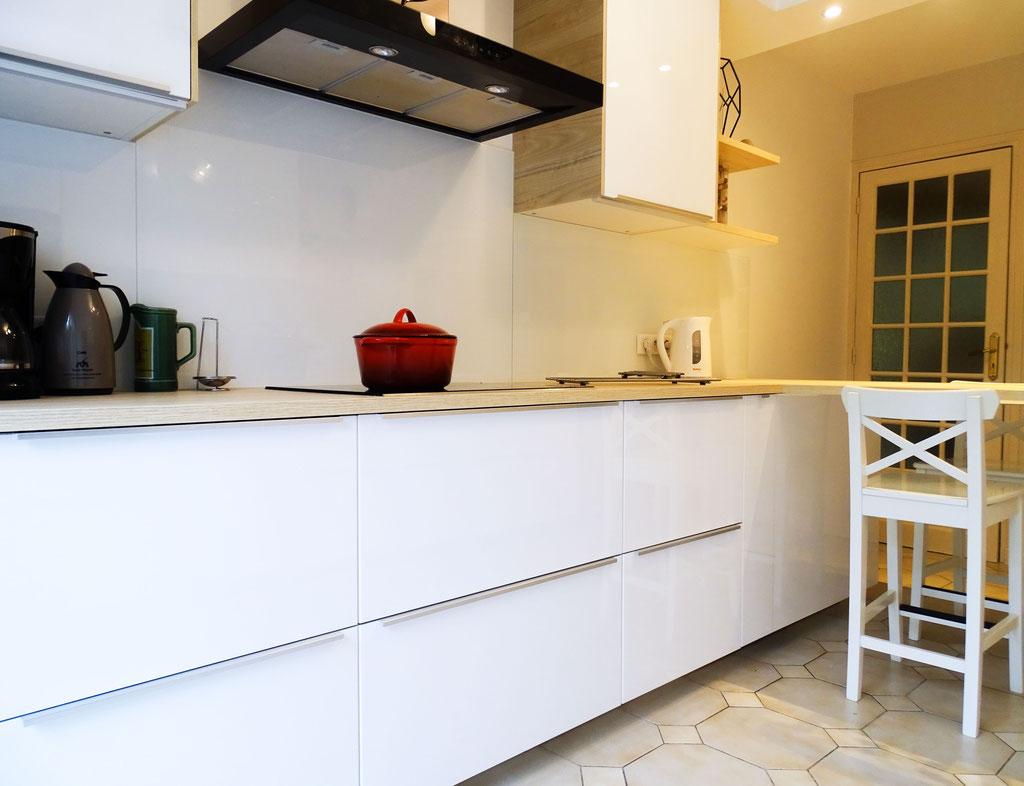 AL Intérieurs, agence architecture intérieur et décoration lyon, rénovation d'une cuisine aux teintes scandinaves