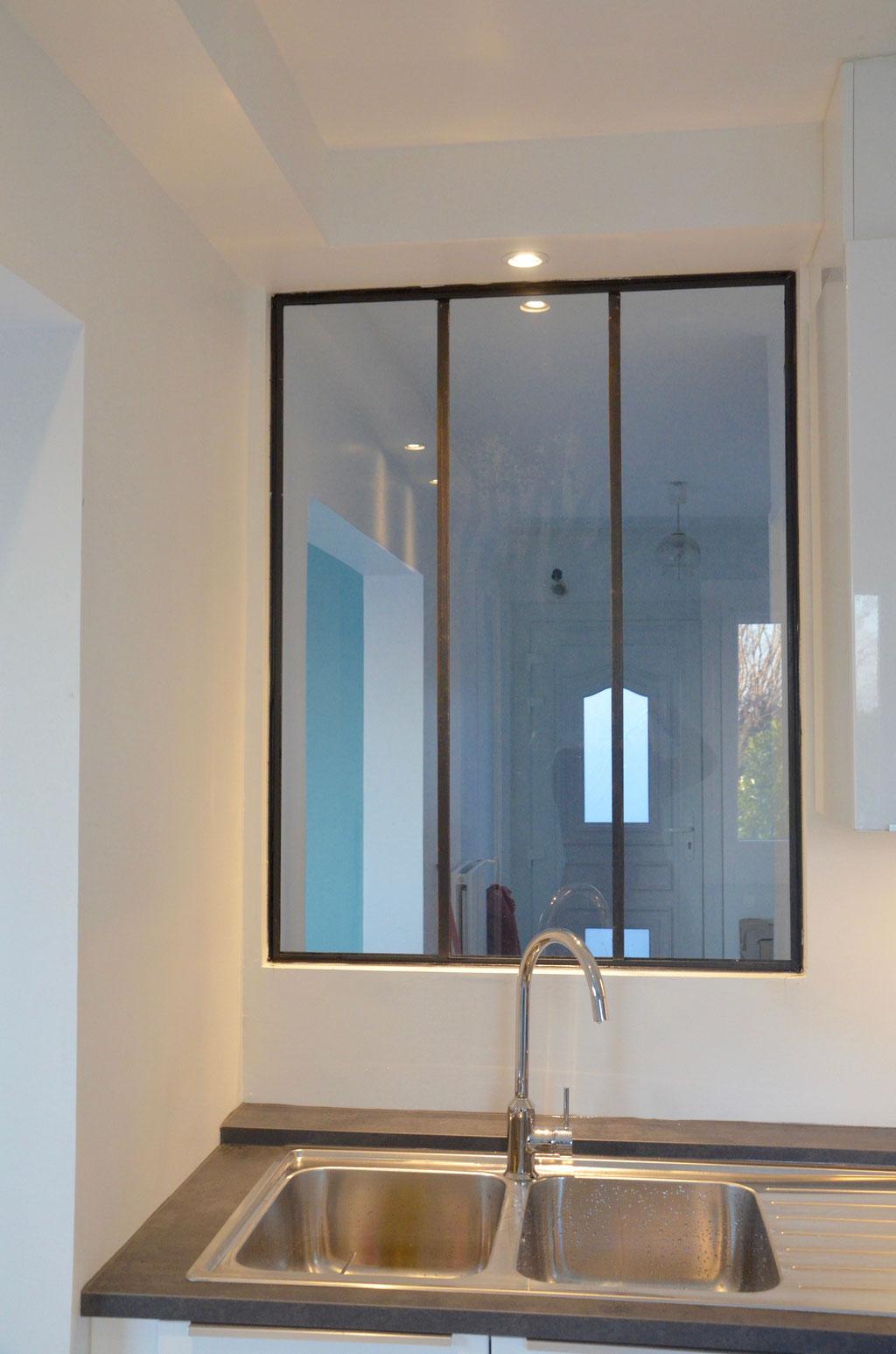 AL Intérieurs, agence architecture intérieur et décoration lyon, rénovation d'une cuisine design avec verrière