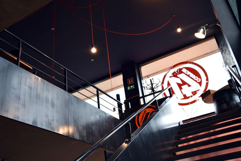 AL Intérieurs, agence architecture intérieur et décoration lyon, rénovation d'une brasserie sur Vaise, le comptoir 41