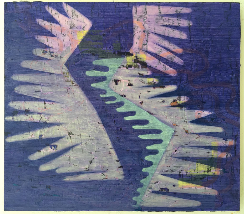 """Unorthodox, 15""""x17"""", oil on wood panel, 2014"""
