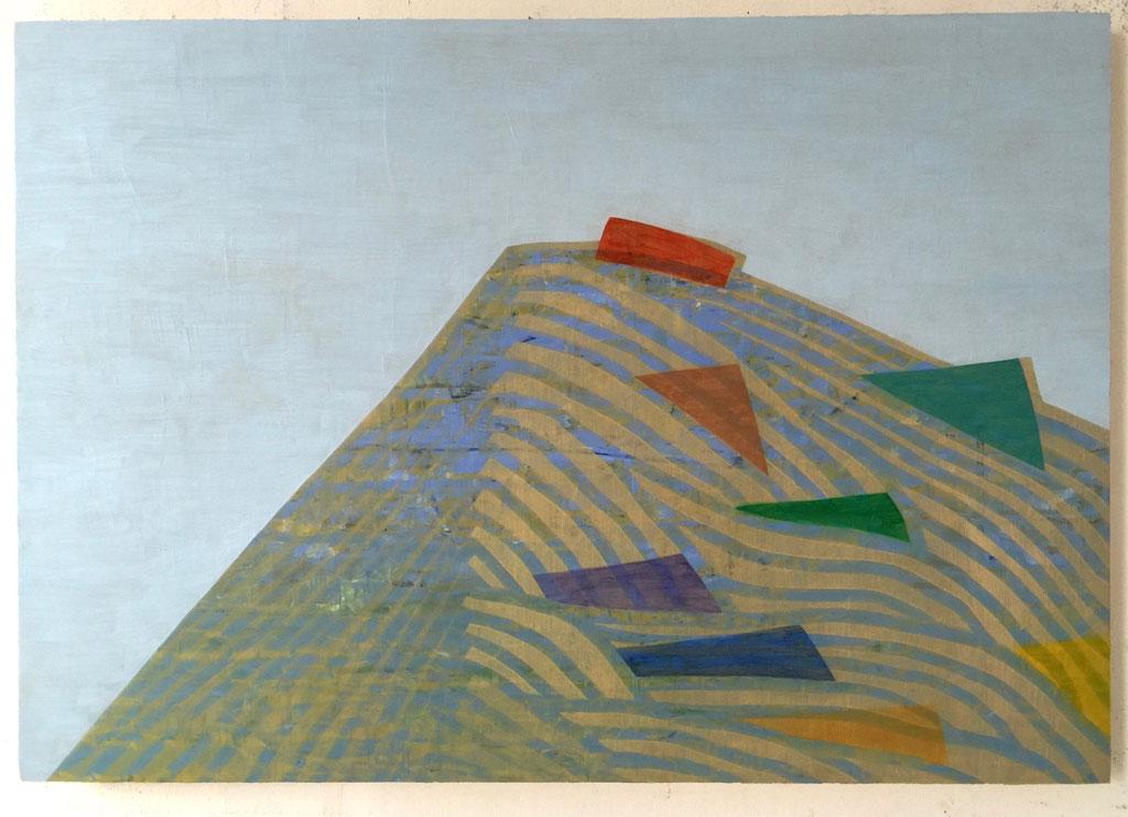 "Ice Cap Follies, 24""x30"", oil on wood panel, 2015"