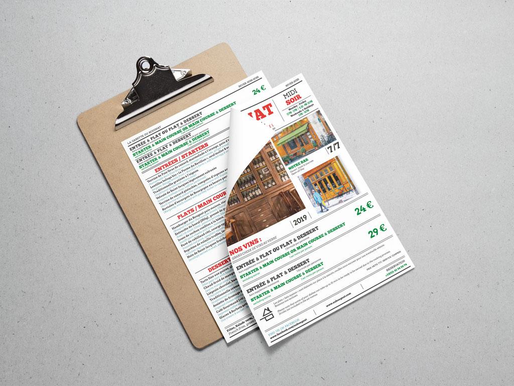 Conception Menu Restaurant - Mise en page