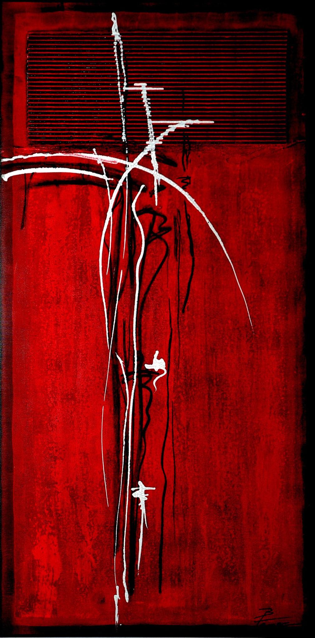 """""""Gegenpol in rot"""" 100x50cm"""