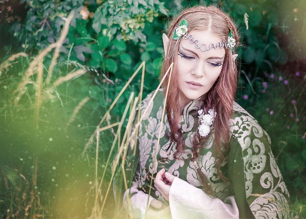 Wald, mystisches Portrait, Fantasyportrait, Fantasyfotografie, Inszenierte Fotografie, besondere Bilder