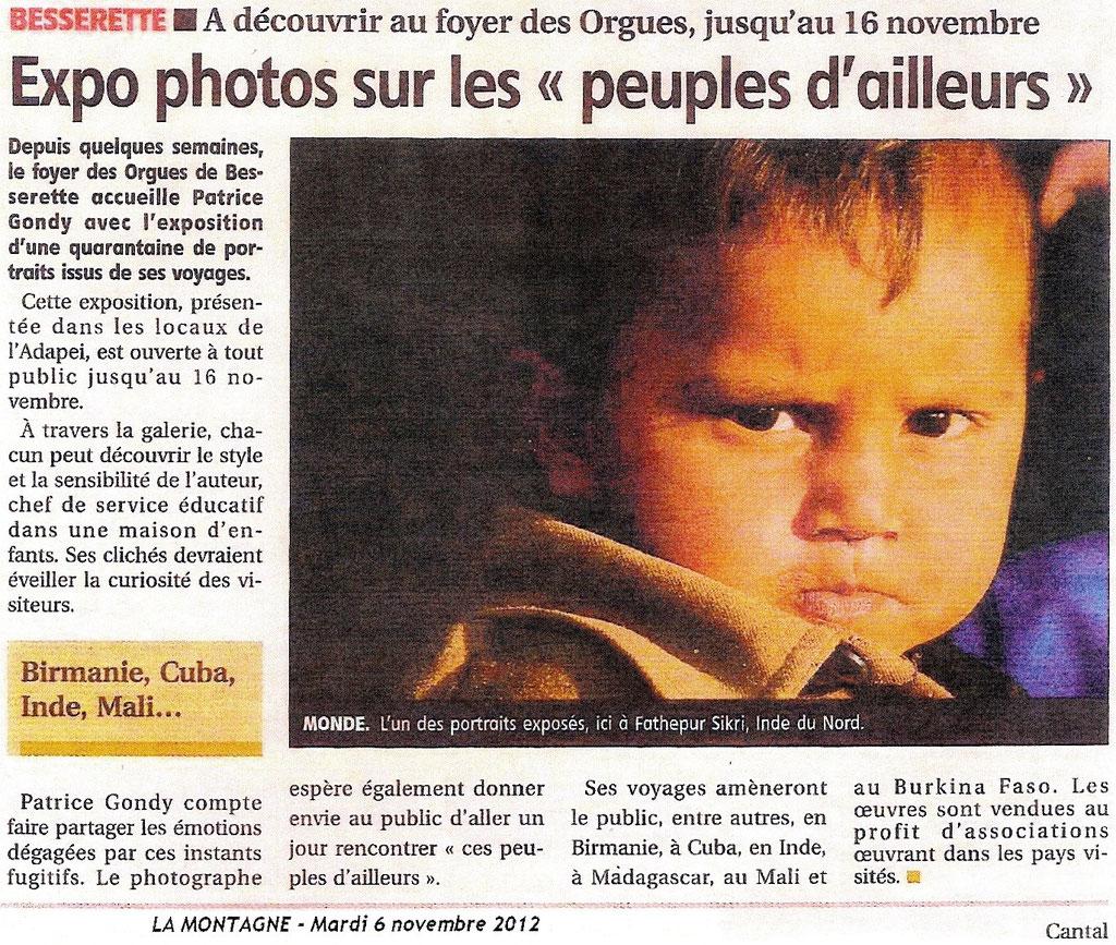 ESAT des Orgues. St FLOUR. La Montagne du 06/11/12