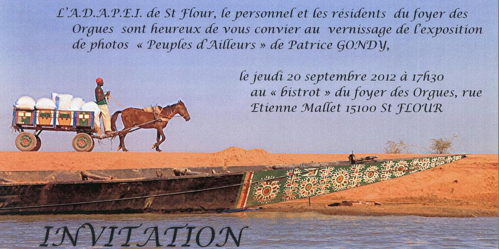 Invitation à la Maison du Patrimoine. MARTRES DE VEYRE.  Novembre 2009