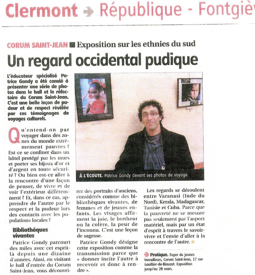 Corum St Jean.CLERMONT-FD. La Montagne du 13/03/09