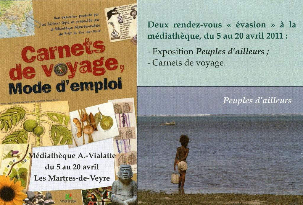 Invitation Médiathèque des MARTRES DE VEYRE. Avril 2011