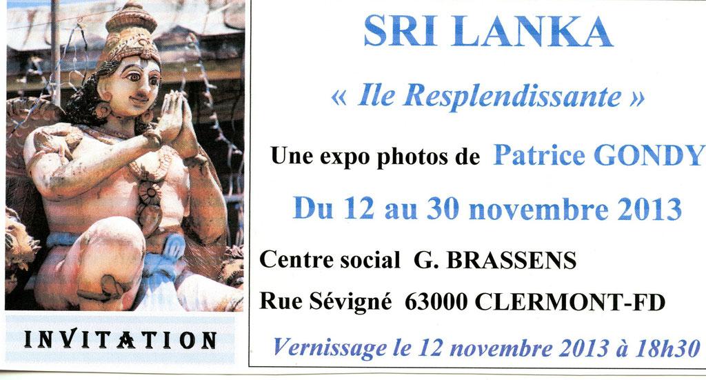 Invitation au Centre G.Brassens. CLERMONT-FD. Novembre 2013