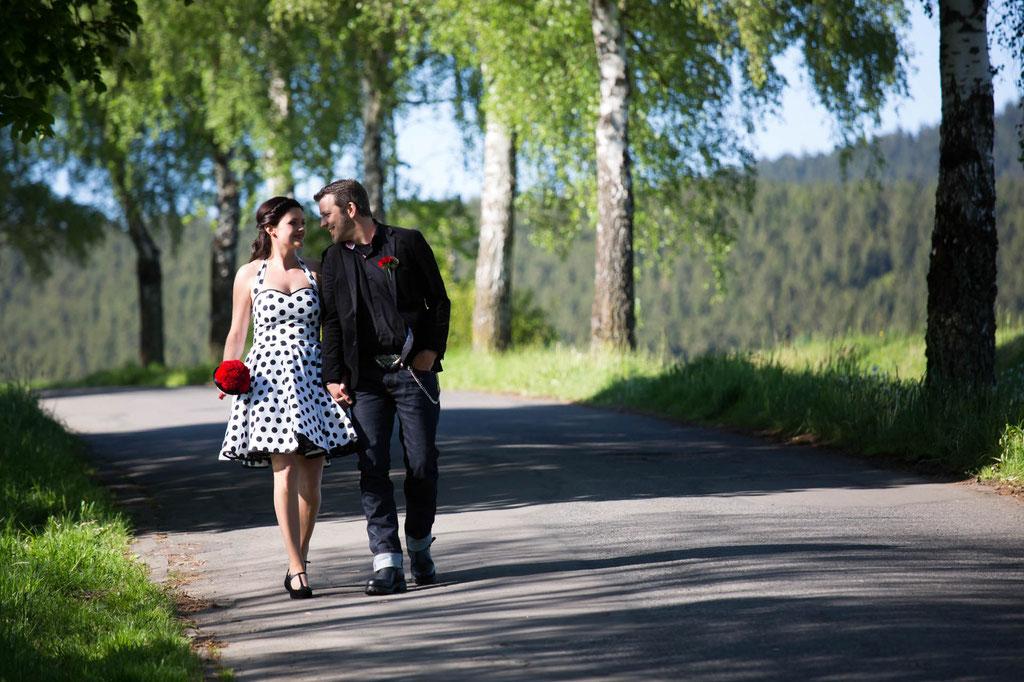 Hochzeit Fotograf Pin up Pinup gemeinsamer Weg Ehe Brautfoto Siegerland Siegen Ferndorf NRW