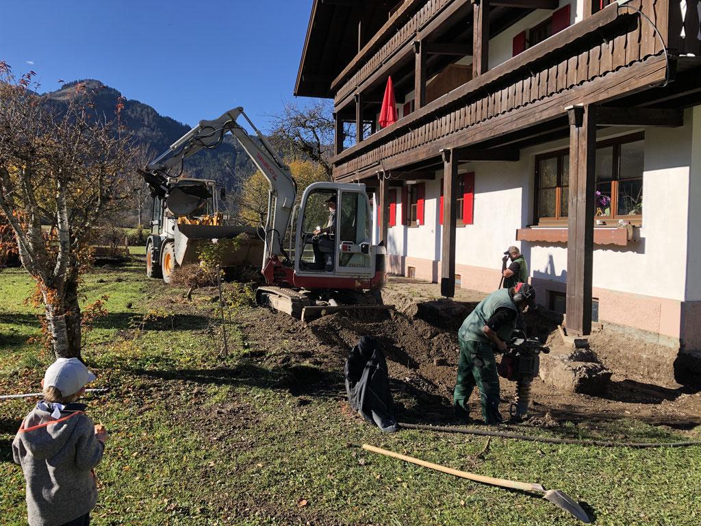 12.11.2018 Neubau der Terrasse vor dem Scheibenhaus 1