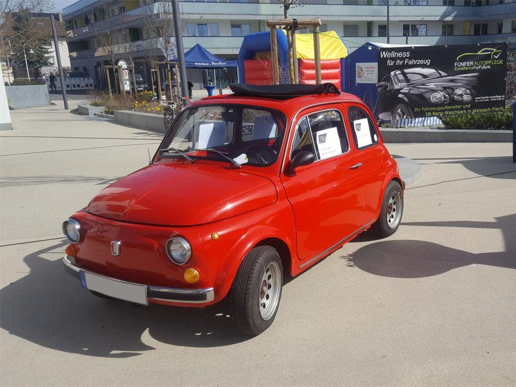 Fiat 500 schräg vorne
