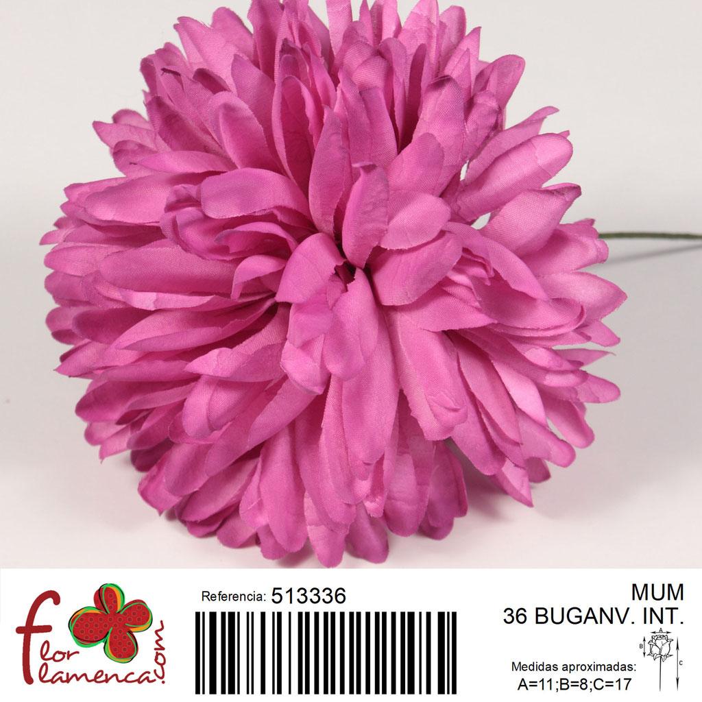 Crisantemo Flor Flamenca modelo Mum color buganvilla intenso 36