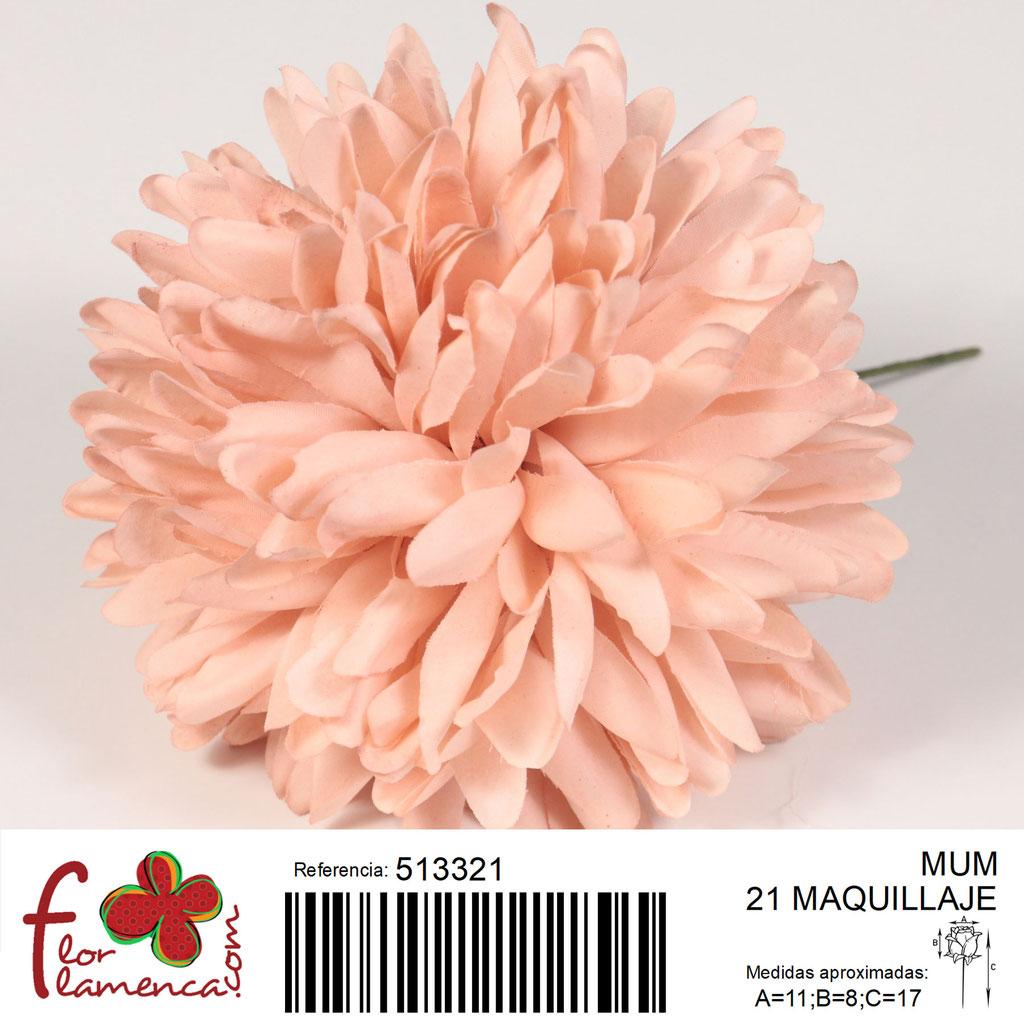 Crisantemo Flor Flamenca modelo Mum color maquillaje 21
