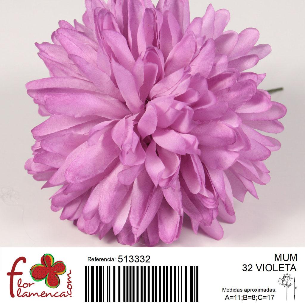 Crisantemo Flor Flamenca modelo Mum color violeta 32