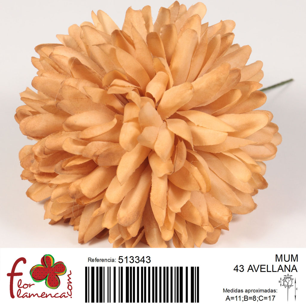 Crisantemo Flor Flamenca modelo Mum color avellana 43