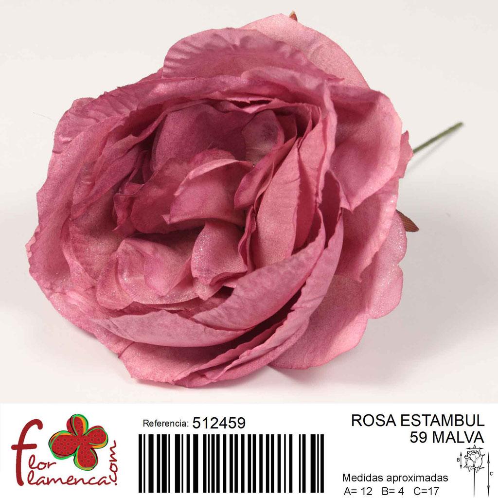 Rosa Flor Flamenca modela Estambul color malva 59