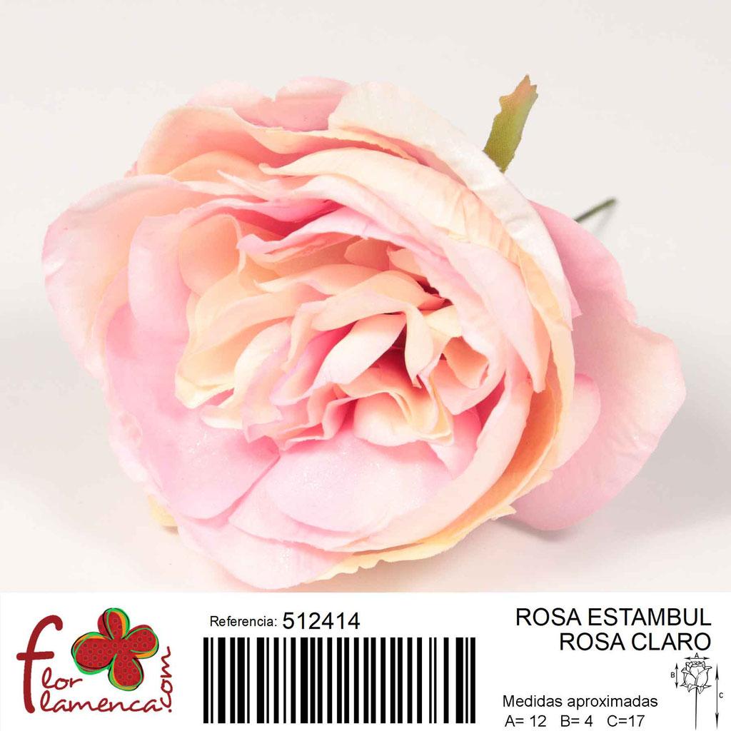 Rosa Flor Flamenca modela Estambul color rosa claro 14