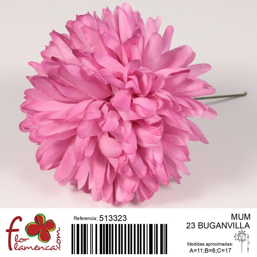 Crisantemo Flor Flamenca modelo Mum color buganvilla 23