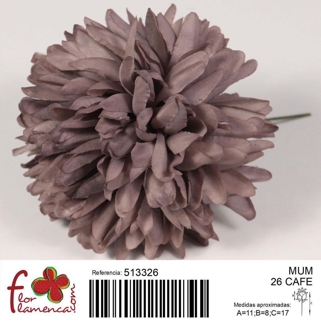Crisantemo Flor Flamenca modelo Mum color café 26