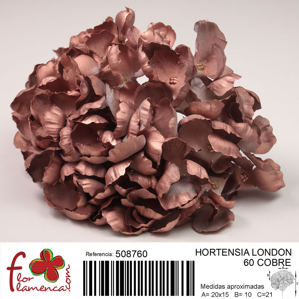 Hortensia Flor Flamenca modelo London color cobre 60