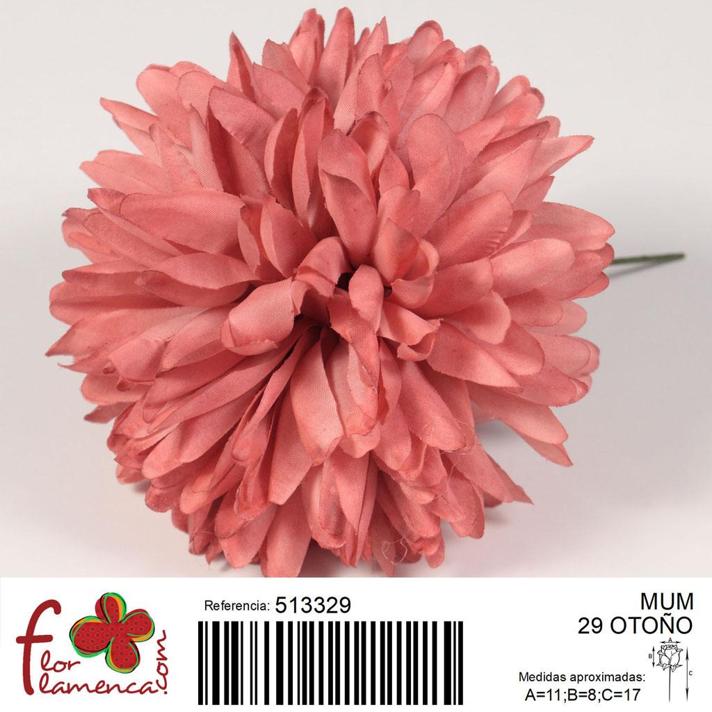 Crisantemo Flor Flamenca modelo Mum color otoño 29