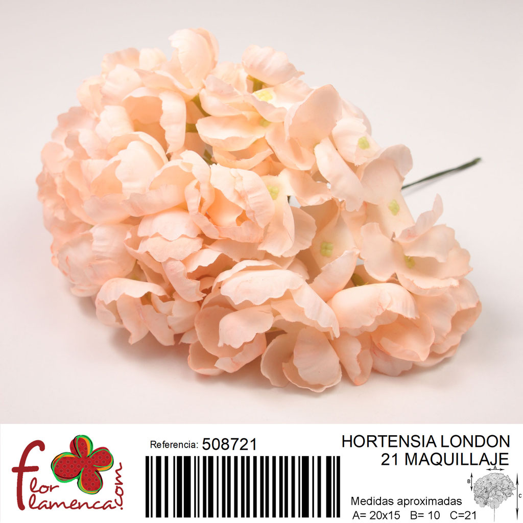 Hortensia Flor Flamenca modelo London color maquillaje 21