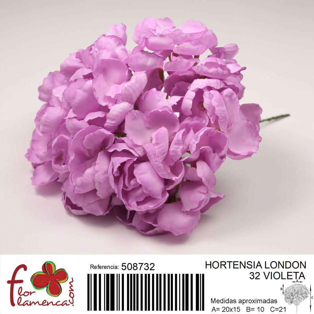 Hortensia Flor Flamenca modelo London color violeta 32