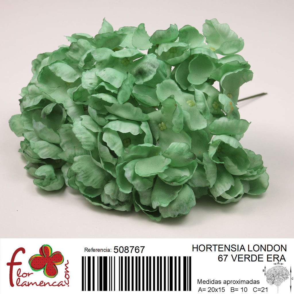 Hortensia Flor Flamenca modelo London color verde era 67