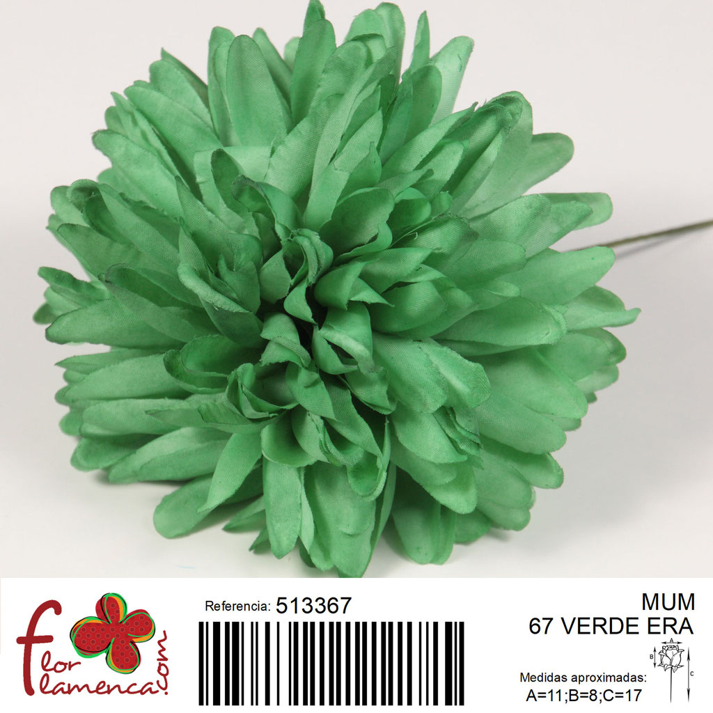 Crisantemo Flor Flamenca modelo Mum color verde era 67