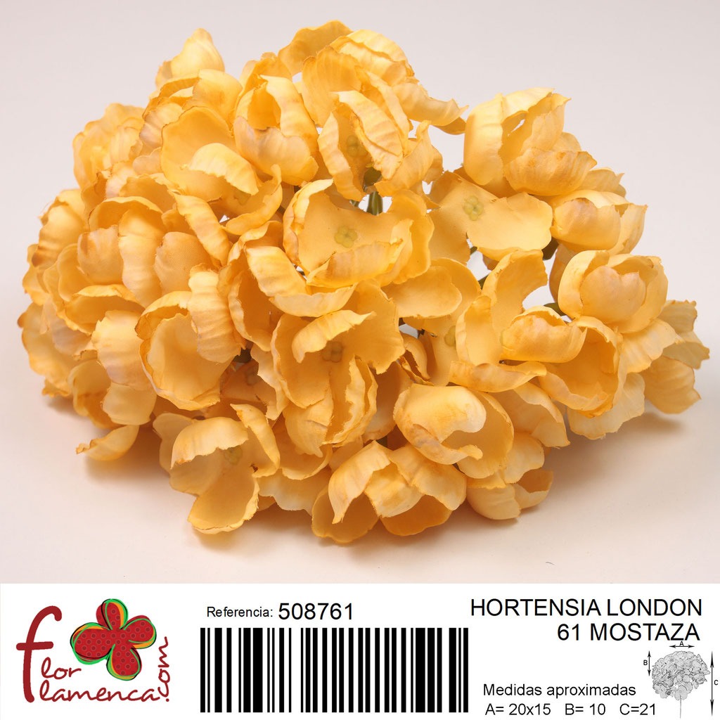 Hortensia Flor Flamenca modelo London color mostaza 61