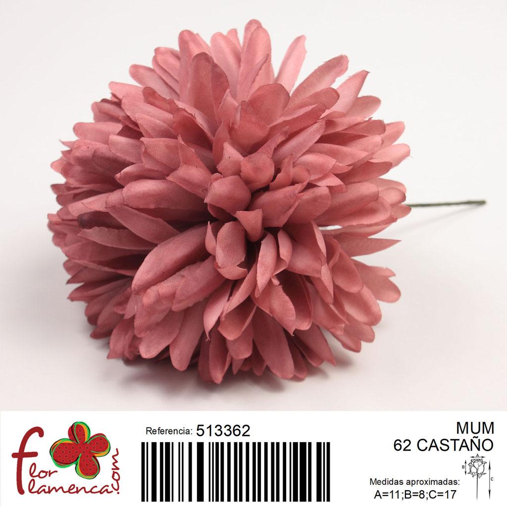 Crisantemo Flor Flamenca modelo Mum color castaño 62