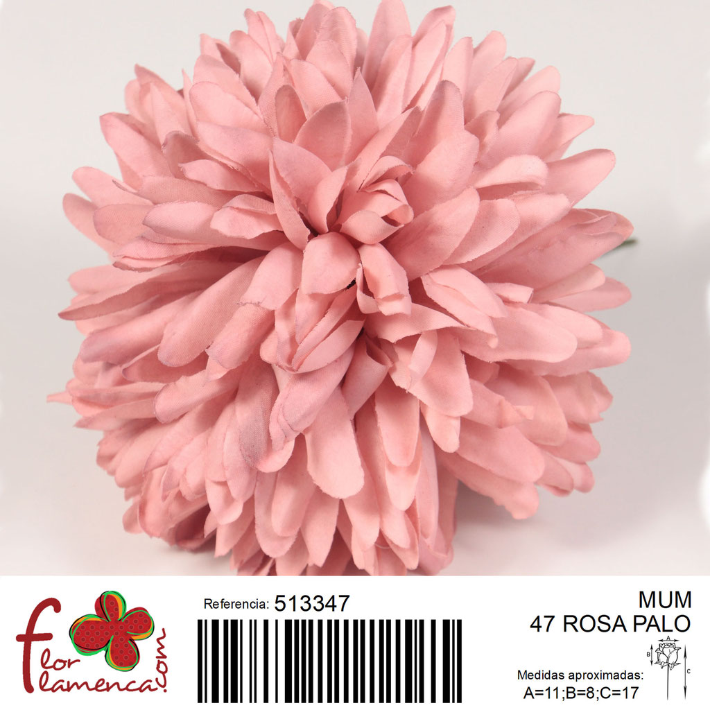Crisantemo Flor Flamenca modelo Mum color rosa palo 47
