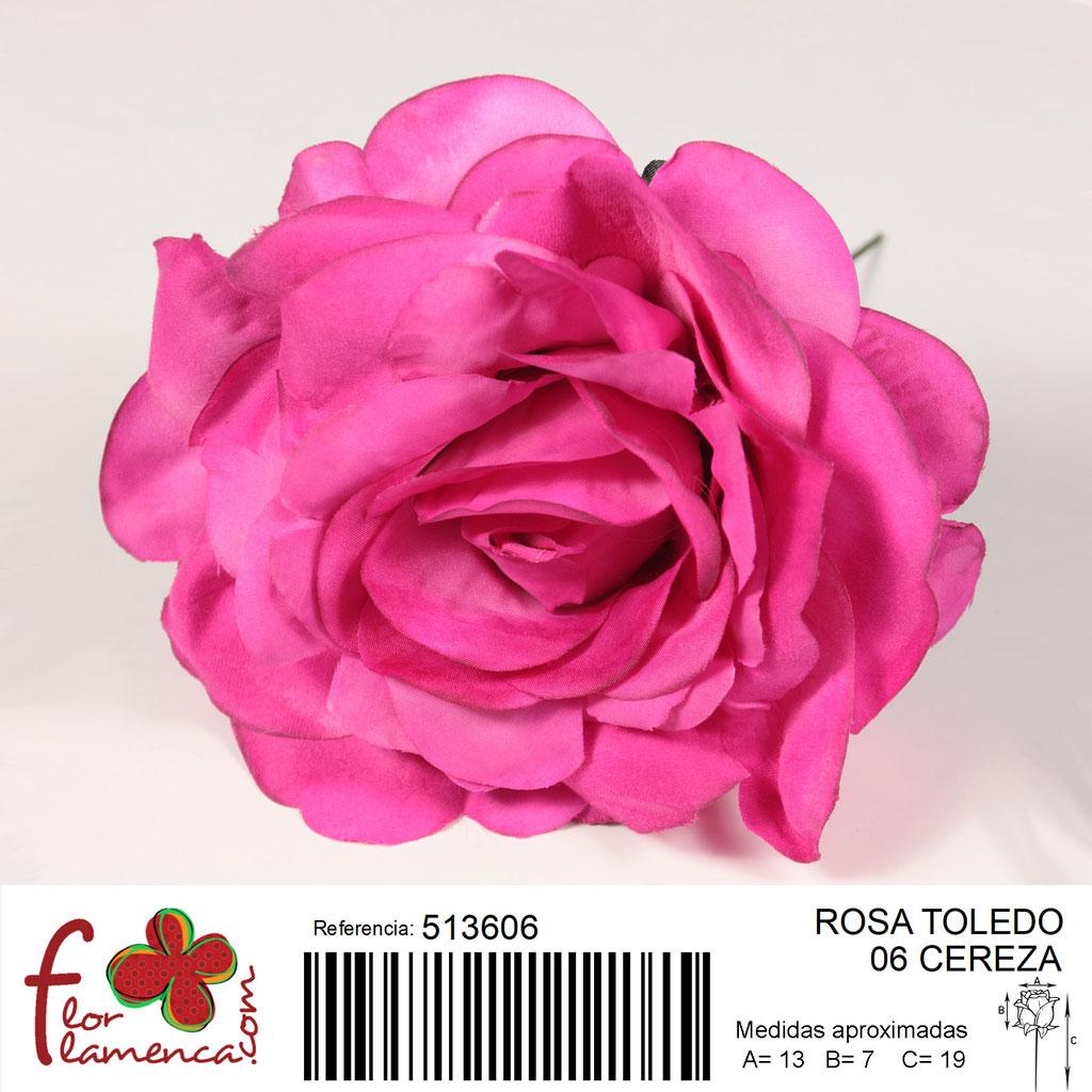 Rosa Flor Flamenca modelo Toledo color cereza 06