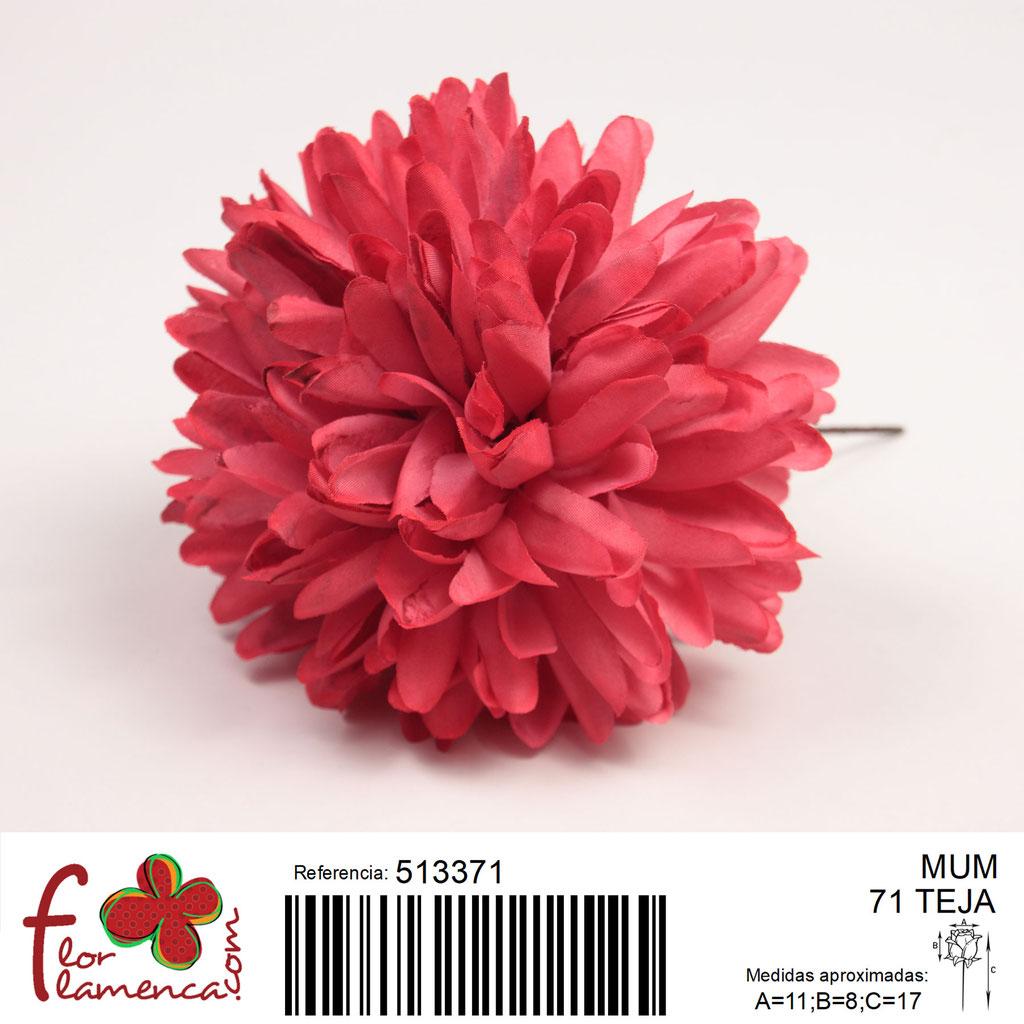 Crisantemo Flor Flamenca modelo Mum color teja 71