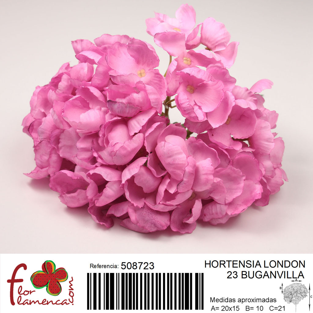 Hortensia Flor Flamenca modelo London color buganvilla 23
