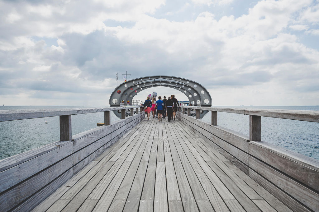 Der Steg von Kellinghusen an der Ostsee