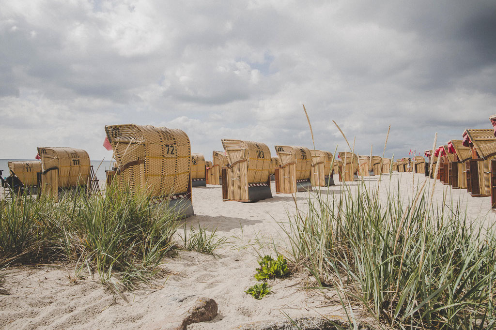 Strandkörbe in Kellinghusen an der Ostsee