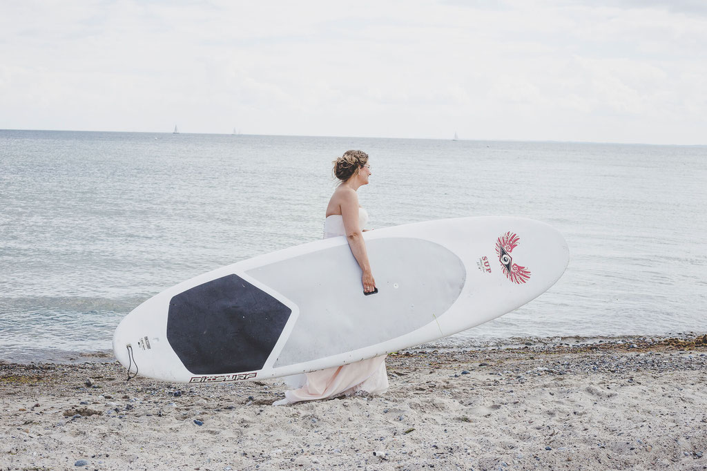 Braut Strand Surfbrett